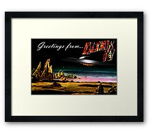 Greetings from Altair IV Framed Print