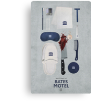 Bates Motel Art Poster Canvas Print