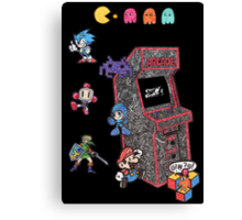 Arcade Game Booth /w background Canvas Print