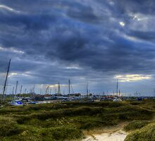 Tollesbury Boats Panoramic. by Nigel Bangert