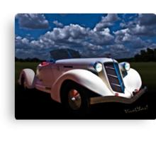 36 Auburn Speedster in Moonglow Canvas Print