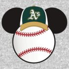Oakland A's Mickey Mouse baseball by sweetsisters
