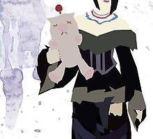 Lulu with Moogle by hispurplegloves