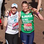 Katherine Grainger and Anna Watkins at the London Marathon by Keith Larby