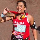 Saira with the London Marathon medal by Keith Larby