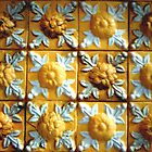 Yellow barroque panel by Madalena Lobao-Tello