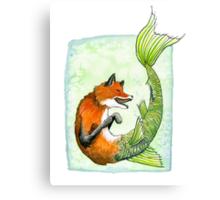 River Fox Canvas Print