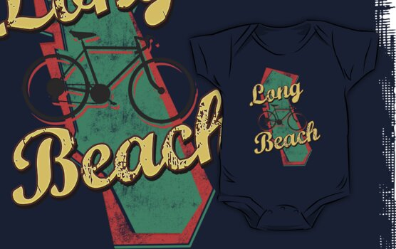 Bike Cycling Bicycle Long Beach California by SportsT-Shirts