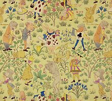 Textile design for 'Alice in Wonderland' by Bridgeman Art Library