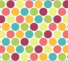 Candy Colored Polka Dot Pattern by cikedo