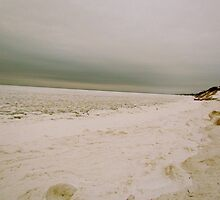 Beach covered snow 2 by GleaPhotography