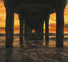 Manhattan Beach Pier by DDMITR