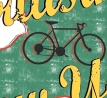 Bike Cycling Bicycle Cruising New York Sticker