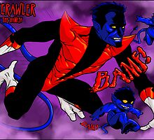 Nightcrawler and his Bamfs by dlxartist