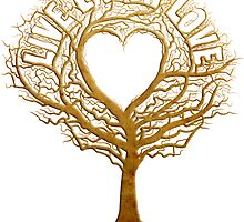 Live Laugh Love Tree of Life by andabelart