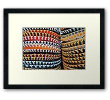colourful Sombreros Framed Print