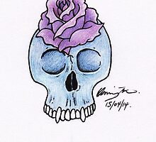 Mini Blue Skull by BonesToAshes
