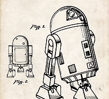 Star Wars R2D2 Droid US Patent Art by geekuniverse