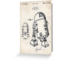 Star Wars R2D2 Droid US Patent Art Greeting Card