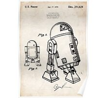 Star Wars R2D2 Droid US Patent Art Poster
