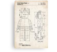 Lego Minifigure US Patent Art Metal Print