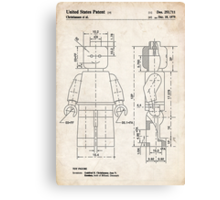 Lego Minifigure US Patent Art Canvas Print