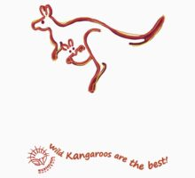 Wild Kangaroos are the best! Kids Clothes