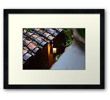 Light In Rain Framed Print