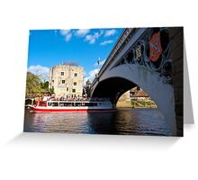 Lendal tower and bridge York Greeting Card
