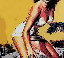 Attack of the 50ft Woman Retro Print by Colin Bradley