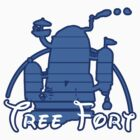 Tree Fort - Sticker by Cowabunga