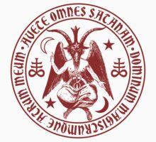 Baphomet & Satanic Crosses with Hail Satan Inscription Sticker by TropicalToad