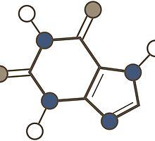 caffeine molecular structure by maydaze