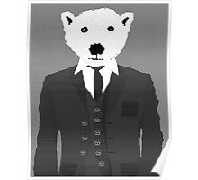 the vintage bear  Poster