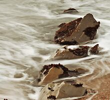 Rock and Water: Pescadero, CA., Winter, 2014 by quistphotog