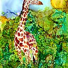 Giraffe In the Brush by Brenda Thour