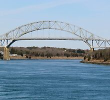 Cape Cod Bridge and Canal by GleaPhotography