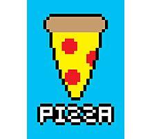 8-Bit Pizza Photographic Print