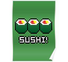 8-Bit Sushi Poster