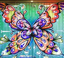 Butterfly Graffiti by MMPhotographyUK