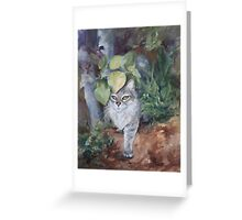 Jungle Kitty in Alcohol Ink Greeting Card