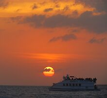 Key west sunset and boat by GleaPhotography