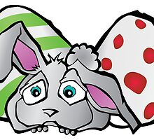 Spring Bunny with Easter Eggs by printpals
