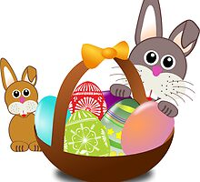 Easter Eggs with Rabbit Baby by printpals