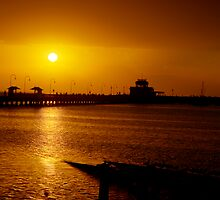 Sunset at St Kilda Pier by collpics