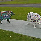 two sheep in fancy dress by Margaret  Hyde