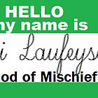 loki name tag by LokiLaufeysen