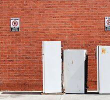 Brunswick Abandoned - Fridge. Melbourne by Suzanne Phoenix