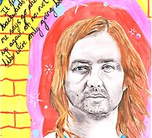 Tame Impala - Feels Like We Only Go Backwards - Kevin Parker - Watercolour by RockandRoll Maker