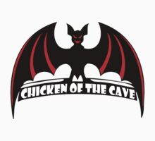 chicken of the cave t-shirt by verde57
